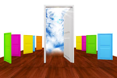 Choice with multi colot door Stock Image