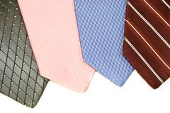 A choice of neck ties to wear or buy Stock Photography