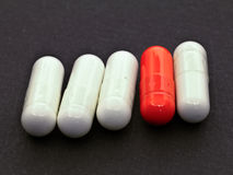 choice pill Arkivbild