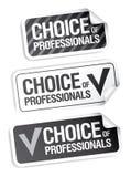 choice professionelletiketter Arkivbilder