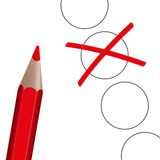 Choice - red pen with cross Royalty Free Stock Photo