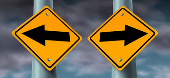 Choice Road Signs stock illustration