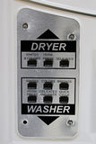 Choice selection on a washer dryer panel stock photo