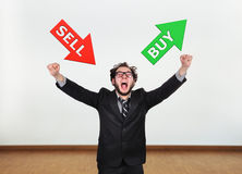 Choice 'sell or buy' Royalty Free Stock Photos