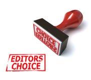 choice stämpel för redaktörer 3d Arkivbilder