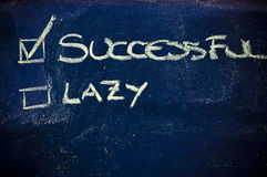 Choice between staying lazy or become successful royalty free stock images