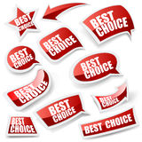Choice stickers set. Stock Photo