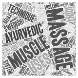 A Choice between Swedish and Ayurvedic Massage Methods word cloud concept  background Royalty Free Stock Image