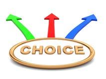 Choice symbol Royalty Free Stock Image