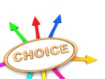choice tecken Fotografering för Bildbyråer