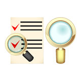 Choice under magnifying glass Royalty Free Stock Photos