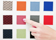 Choice Of Upholstery Fabric. On white Stock Image