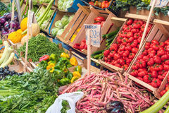 Choice of vegetables for sale in Palermo Royalty Free Stock Images