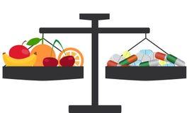 Choice of vitamins royalty free illustration