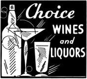 Choice Wines And Liquors Stock Photo