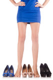 Choice of woman shoes Stock Photo