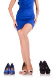 Choice of woman shoes Royalty Free Stock Photography