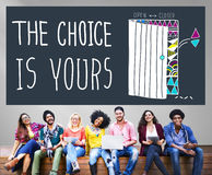 Choice Yours Chance Choosing Decision Pick Concept Royalty Free Stock Photo