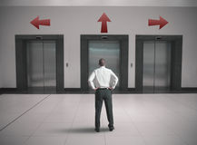 Choices of a businessman Royalty Free Stock Photos