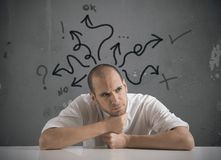 Choices of a businessman Royalty Free Stock Photo