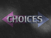 Choices concept Stock Photo