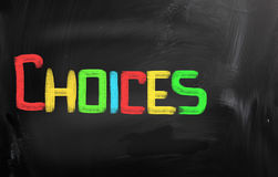 Choices Concept Royalty Free Stock Photography