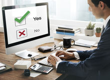 Choices Tick Yes No Choose Mark Decision Graphic Concept Royalty Free Stock Image