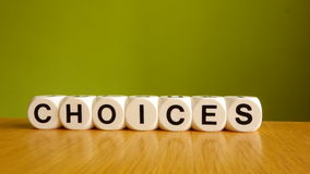 Choices Royalty Free Stock Images