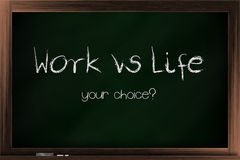 Choices of work vs life Stock Photography