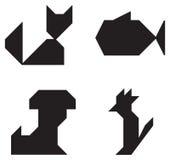 Choie des symboles noirs et blancs Image libre de droits