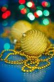 Choinek piłki i ornamenty Obrazy Royalty Free