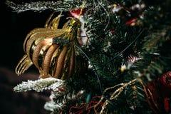 Choinka i Boże Narodzenie dekoracje Fotografia Royalty Free