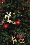 Choinka i Boże Narodzenie dekoracje Zdjęcie Royalty Free