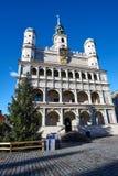 Choinka i fasada Renesansowy urząd miasta Zdjęcia Stock