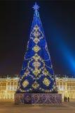 Choinka na pałac kwadracie w peretburge, Rosja & x28 St; s fotografia royalty free