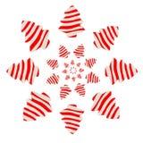 Choinka od czerwonej i białej gliny Zdjęcie Stock