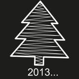 Choinka ornamentuje nowego roku na czarnym plecy Obraz Royalty Free