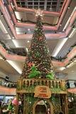 choinka przy centrum handlowym 2016 Zdjęcie Royalty Free