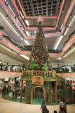 choinka przy centrum handlowym 2016 Obraz Royalty Free