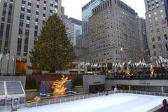 Choinka przy Rockefeller centrum Zdjęcie Stock