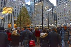 Choinka przy Rockefeller centrum Zdjęcie Royalty Free
