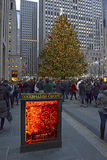 Choinka przy Rockefeller centrum Zdjęcia Stock