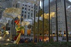 Choinka przy Rockefeller centrum Obrazy Royalty Free
