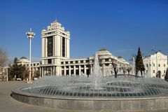 Choinka w parku, Ashgabad, kapitał Turkmenistan Obrazy Stock