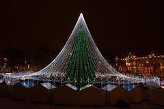 Choinka w Vilnius urzędu miasta kwadracie Obrazy Royalty Free