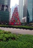 Choinka w w centrum Singapur Obrazy Stock