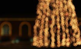 Choinka z świateł jarzyć się Obrazy Royalty Free