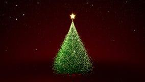 Choinka z żółtymi światłami w drzewie ilustracja wektor
