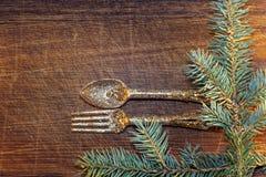 Choinka z boże narodzenie dekoracjami Obraz Royalty Free