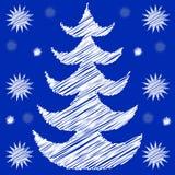 Choinka z śniegiem Zdjęcie Stock